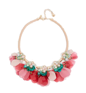 Pink and turquoise statement necklace.