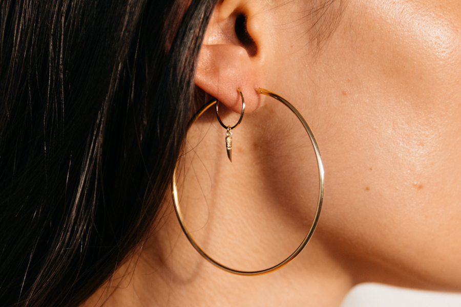 Orelia London Jewellery horn sleeper earrings.