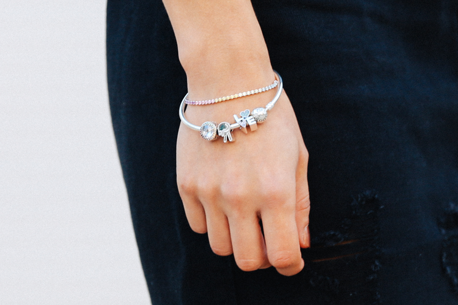 Pandora festival collection charms bracelet.