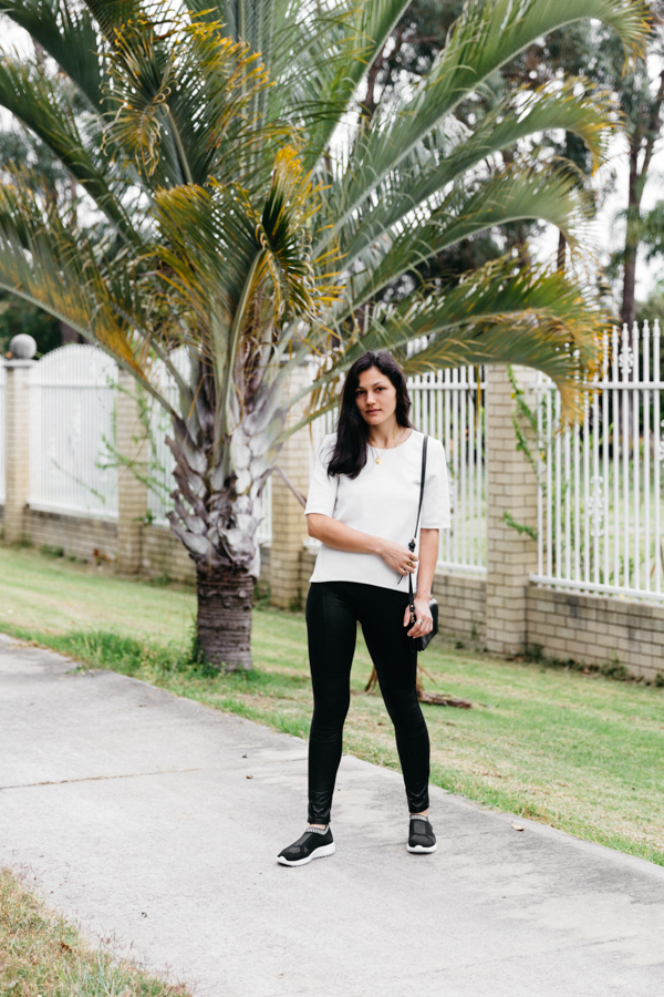 Black sneakers outfit. Perth fashion blogger.