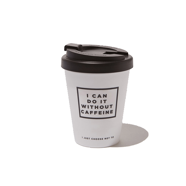 Reusable coffee travel mug.