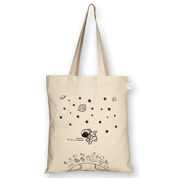 Space universe eco friendly cotton tote by Ecoright.