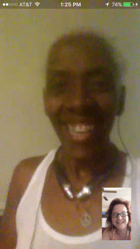 Grand Diva and Auntie sharing a moment.