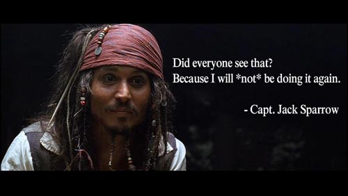 Did You See That - Jack Sparrow