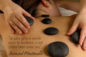 massages pierres chaudes chakras bien-être détoxine soulage les douleurs améliore circulation sanguine et lymphatique