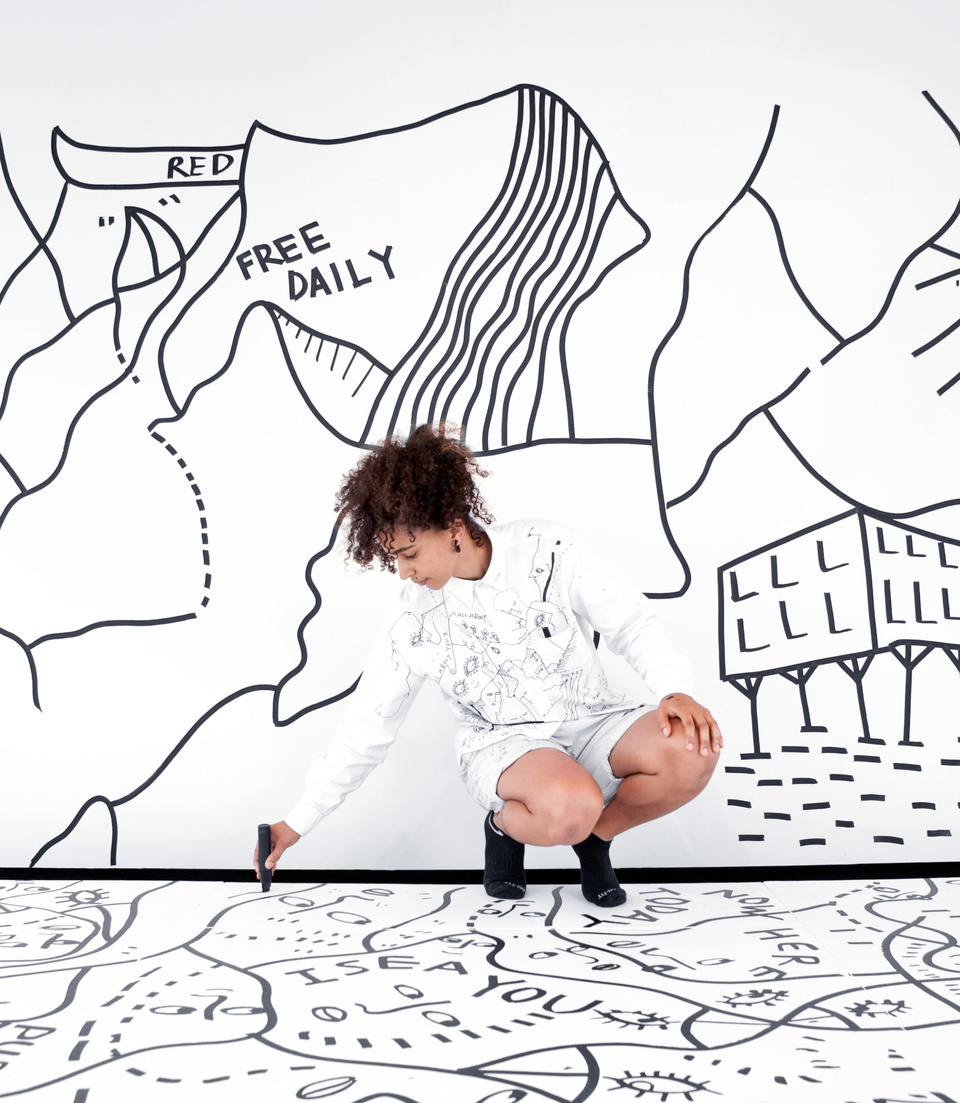 Shantell Martin — Work: Bata Shoe Museum