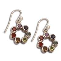 Chakra Earrings Circle of Happiness Sterling Silver and ...