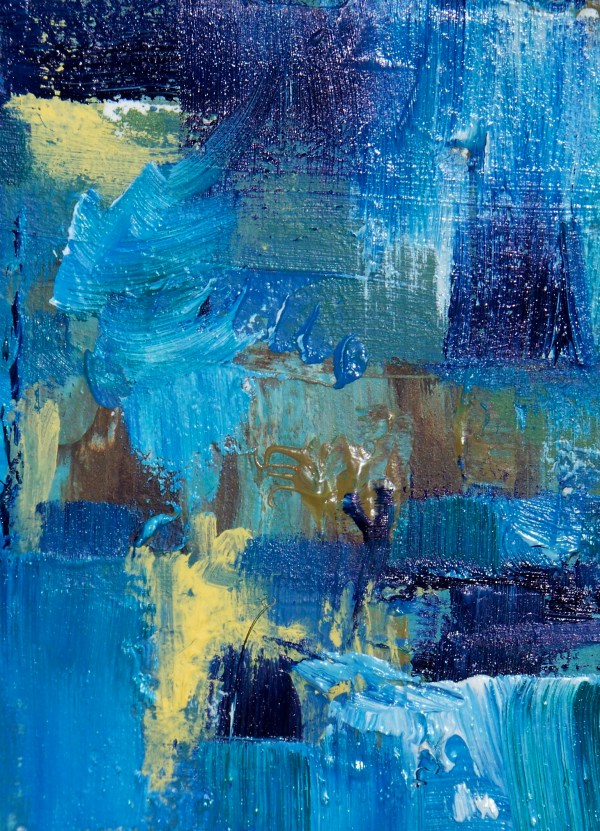Blue Abstract Art Oil Painting