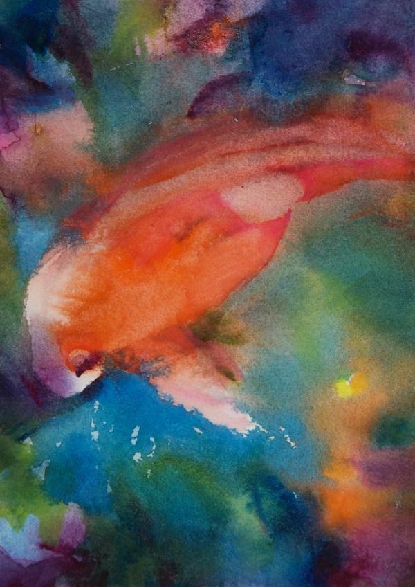 Watercolor Koi Painting
