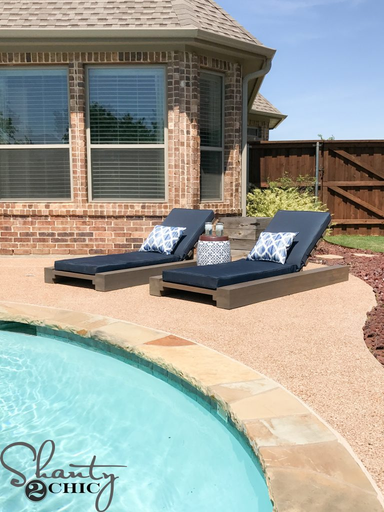 Pool Lounge Chair Diy Outdoor Lounge Chair And How To Video Shanty 2 Chic