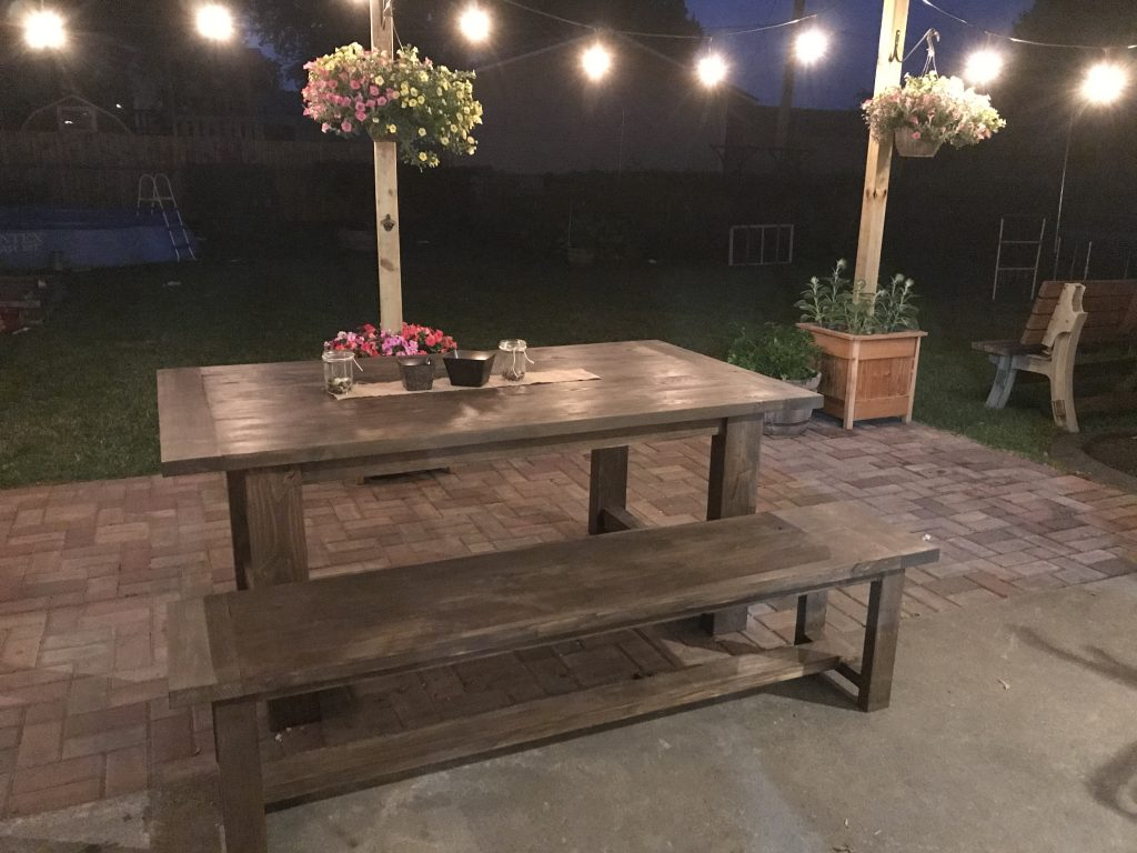 Turned Leg Farmhouse Table Plans Outdoor Table - Shanty 2 Chic