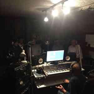 Die Jungs vom Nordseedeich im Studio