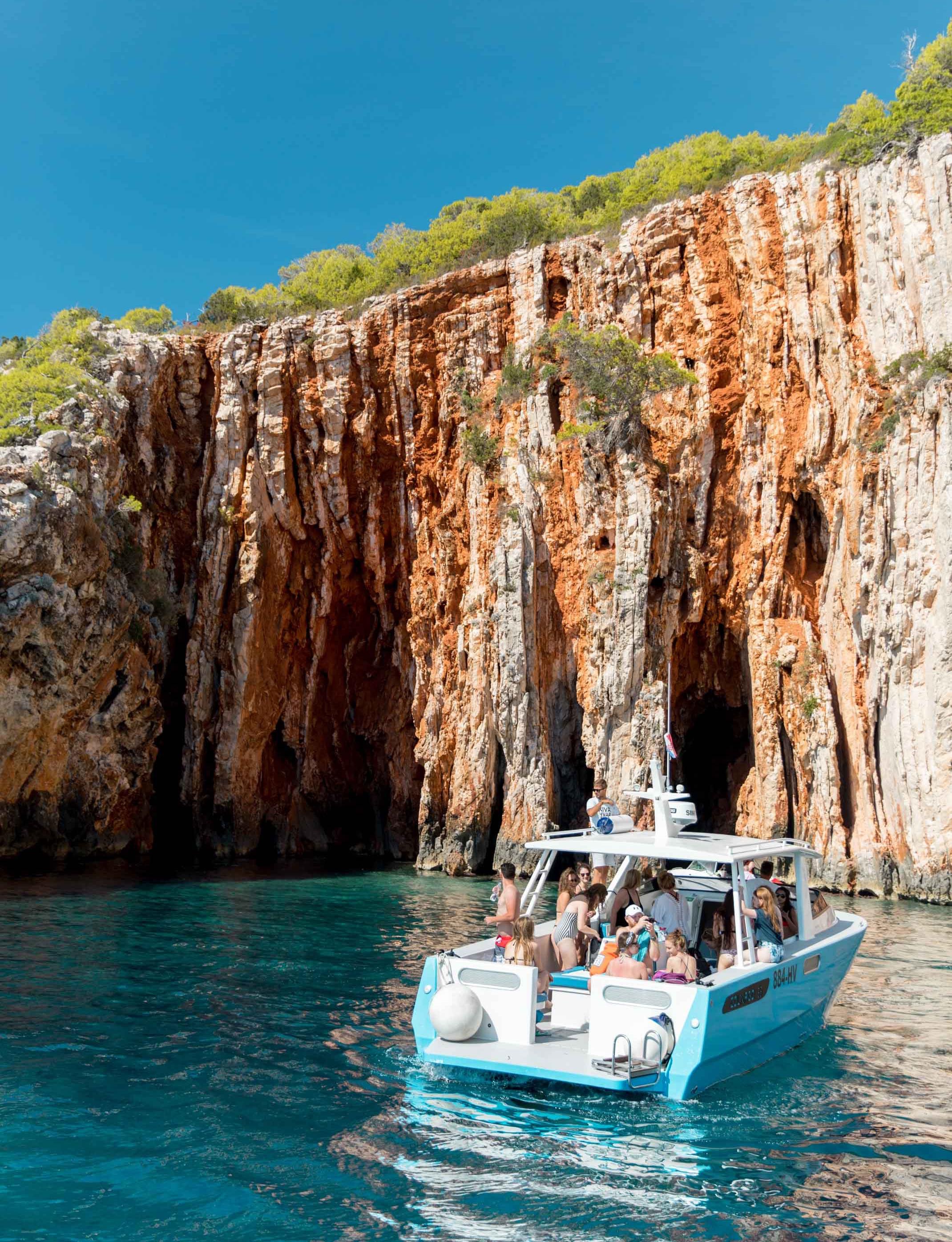 amazing boat day in hvar