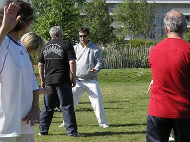 séance de sport santé au Jardin Botanique