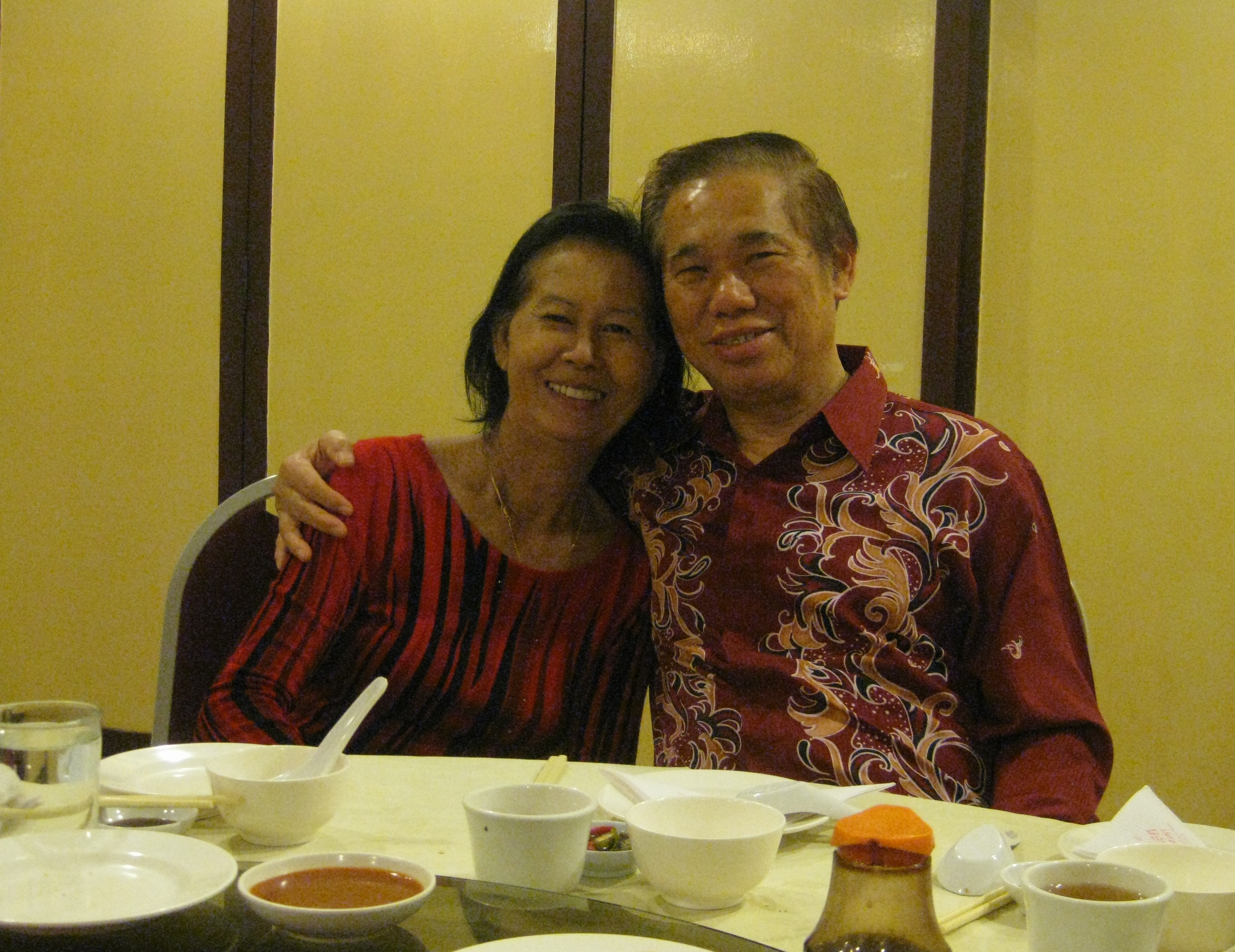 Grandmaster Wong and his wife