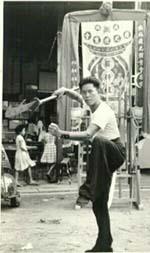 Sifu Lai Chin Wah demonstrating the Kwan Tou