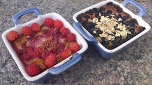 paj med blåbär och hallon