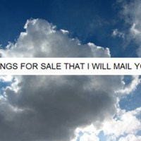 "david horvitz: ""things for sale that i will mail you""."