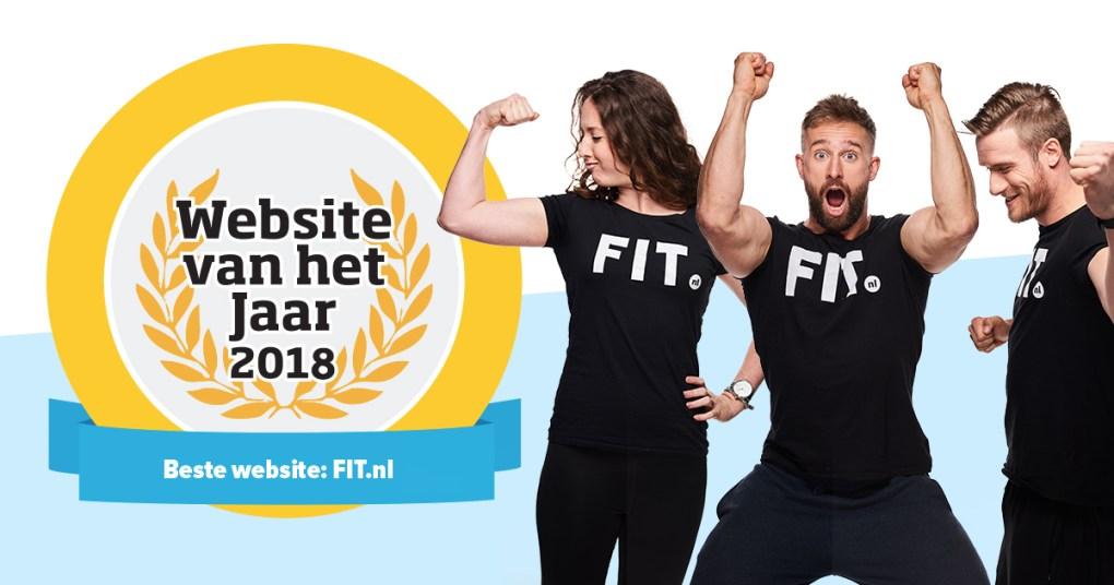 Fit.NL Website van het jaar 2018
