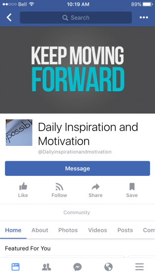 Daily Inspiration and motivation community on Facebook