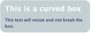 Curved box in CSS