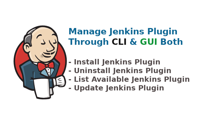 manage jenkins plugin through command line and GUI