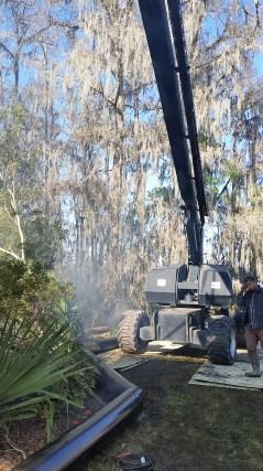 Condor base in the bayou.