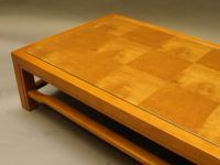 Low Myrtle Wood Parquet Coffee Table at 1stdibs