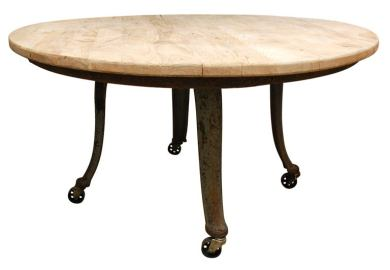 Round Industrial Dining Table