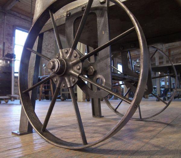 Industrial Metal Cart Table Wheels 1stdibs