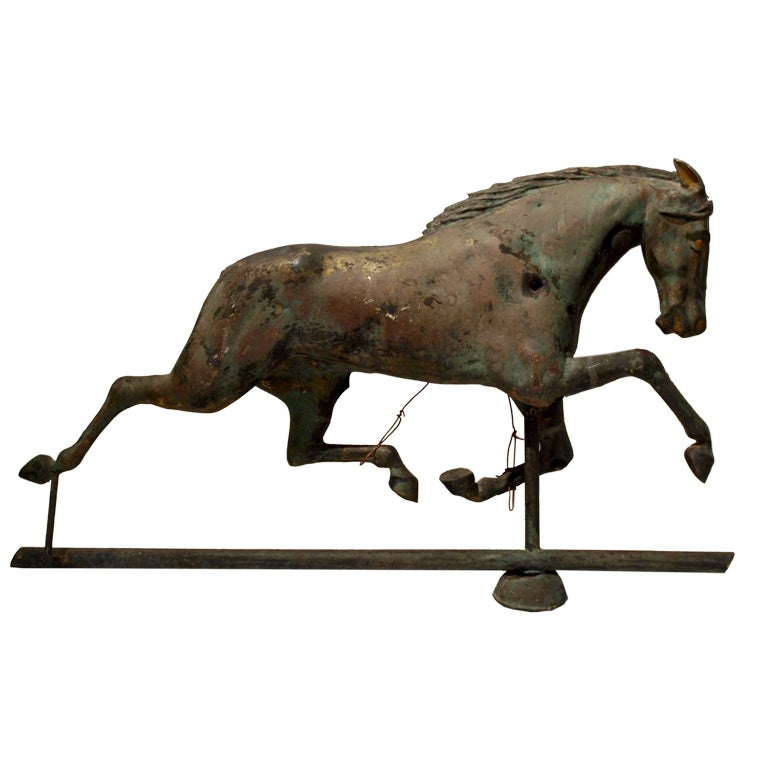 Antique Folk Art Horse Weathervane At 1stdibs
