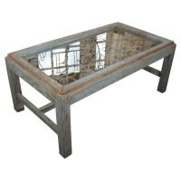 Weathered Wood Coffee Table at 1stdibs
