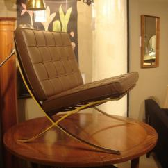 Barcelona Chair Used Cheap Ergonomic Pair Of Vintage Knoll Chairs In New Brown Leather At 1stdibs