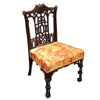 Antique Mahogany Chinese Chippendale Chair at 1stdibs