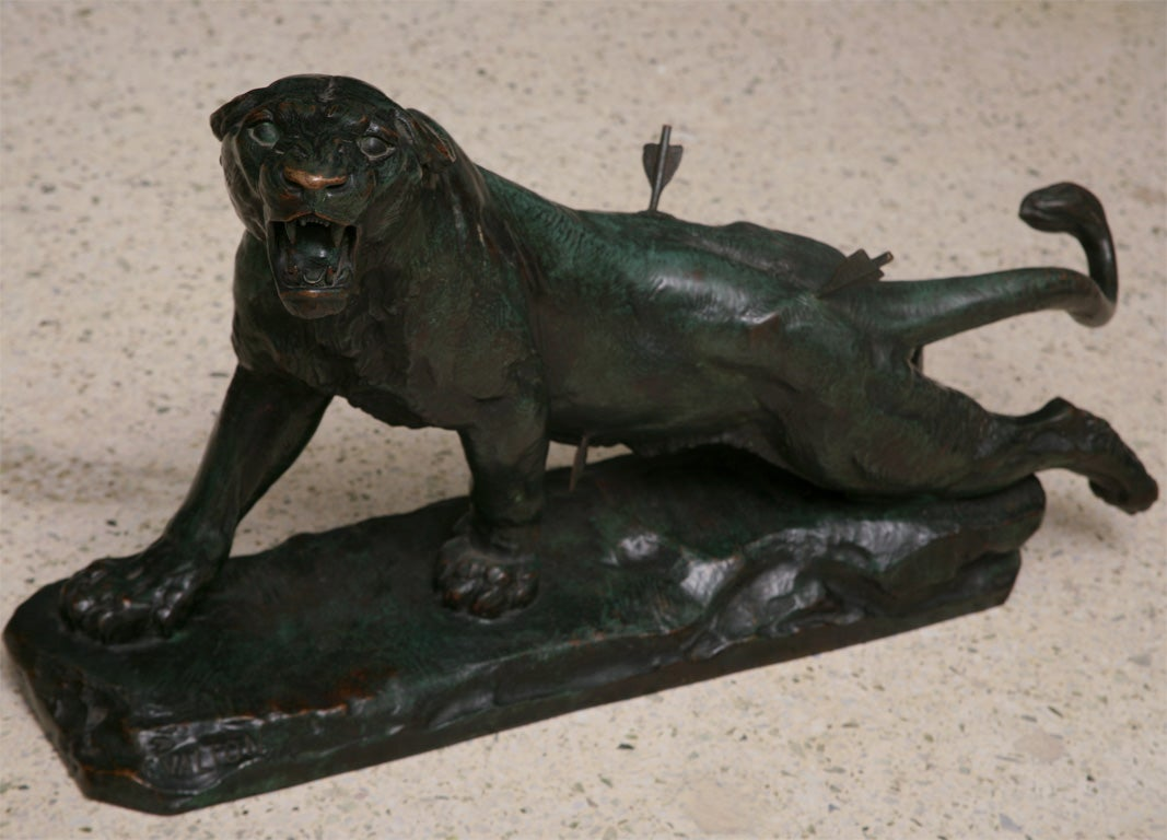 sofas and stuff alton extra large an art deco bronze of a wounded panther stamped valton at