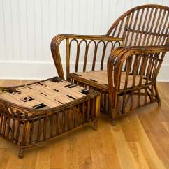 Antique Wicker Chairs Eames Lounge Chair Reproduction Stick And Ottoman At 1stdibs