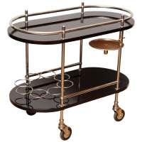 Art Deco Rolling Bar Cart at 1stdibs