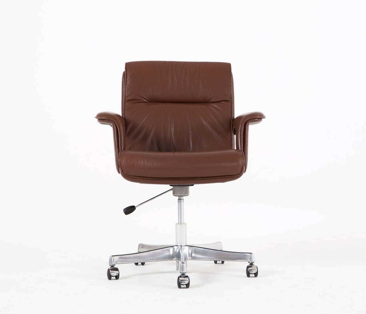 Brown Leather Desk Chair Executive Conference Desk Office Chair In Brown