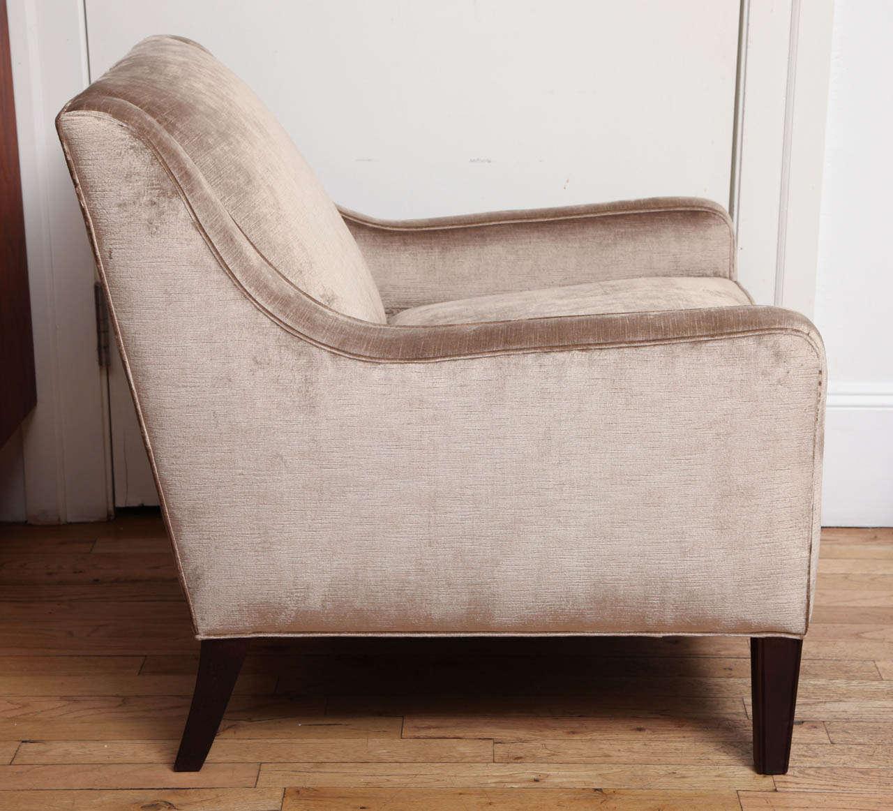 brown slipper chair fabric desk chairs upholstered in light cut velvet at 1stdibs