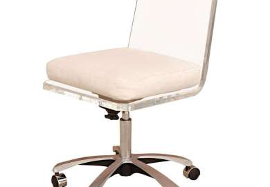 White Swivel Desk Chair