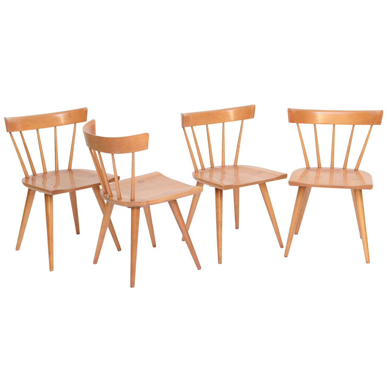 Windsor Style Chairs Four Paul Mccobb Planner Group Dining Chairs Windsor Style
