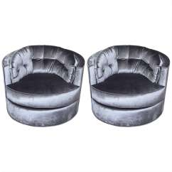 Swivel Tub Chairs Bassett Office Chair Pair Of 1970s Milo Baughman Tufted Back
