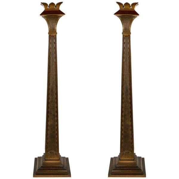 Early 20th Century Art Deco Bronze Pillars 1stdibs