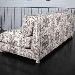 Antony Todd Sofa Rose Wood Furniture Set Armless Upholstered In Jim Thompson Hand
