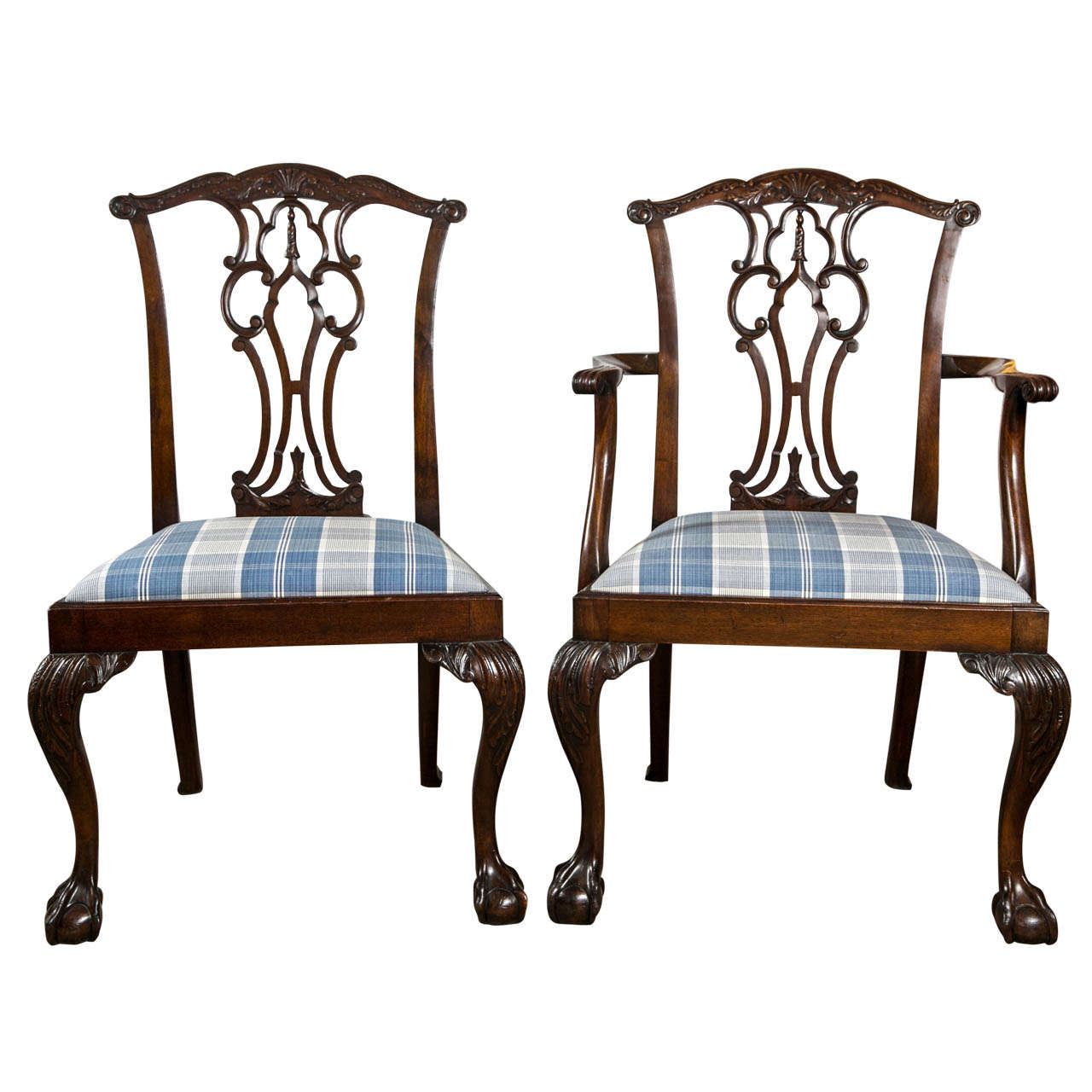 feet for chairs counter height with arms set of eight chippendale dining ball and claw