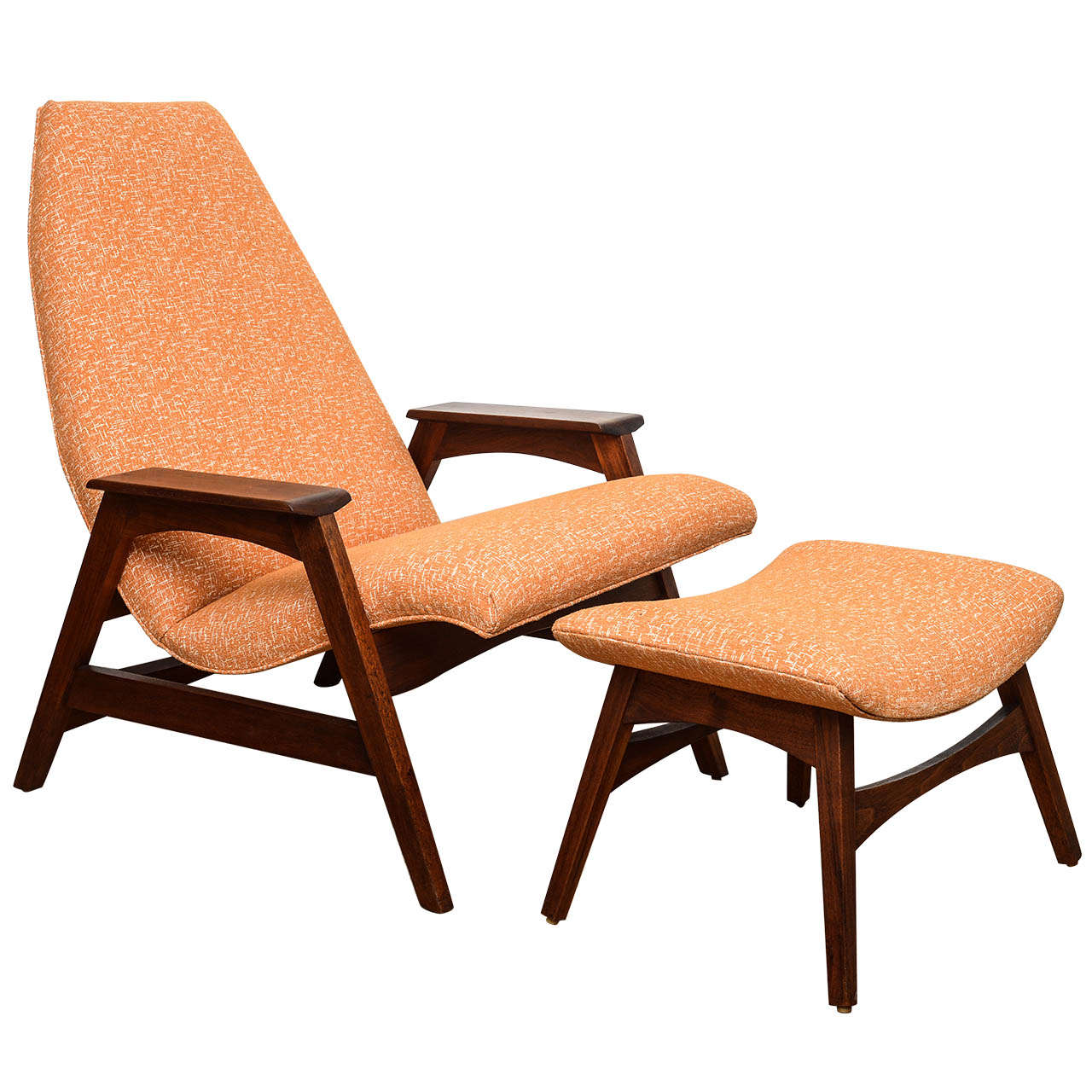 Mid Century Chair And Ottoman Sculptural Mid Century Chair And Ottoman Attributed To