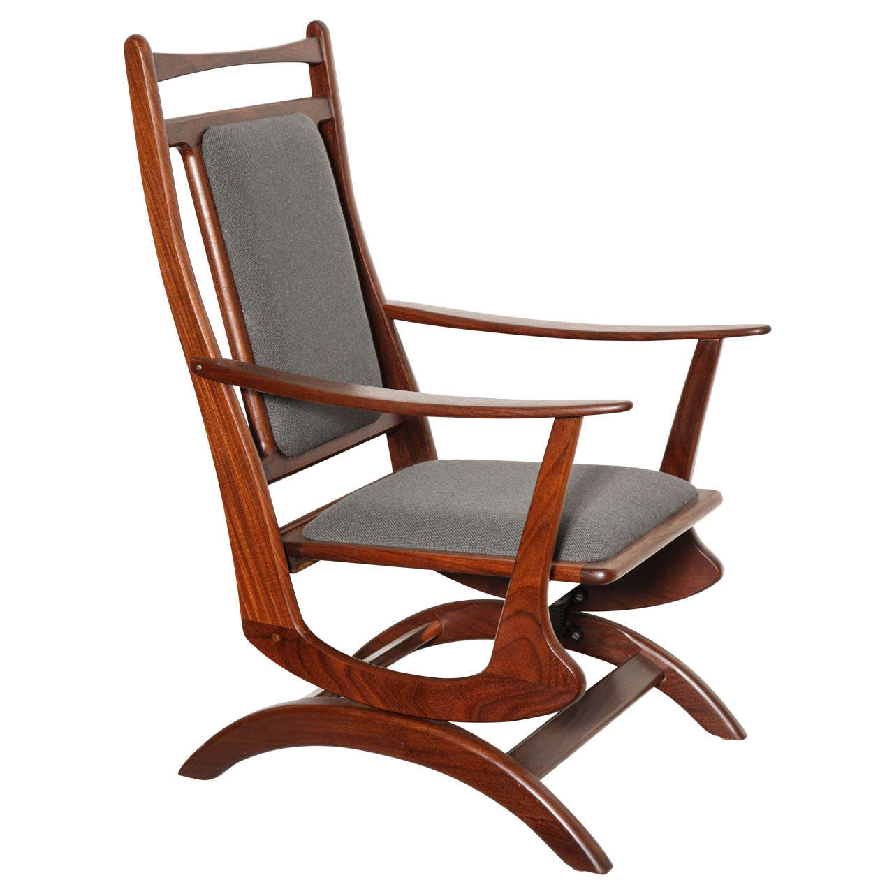 antique rocking chairs value burgundy wingback danish vintage chair at 1stdibs