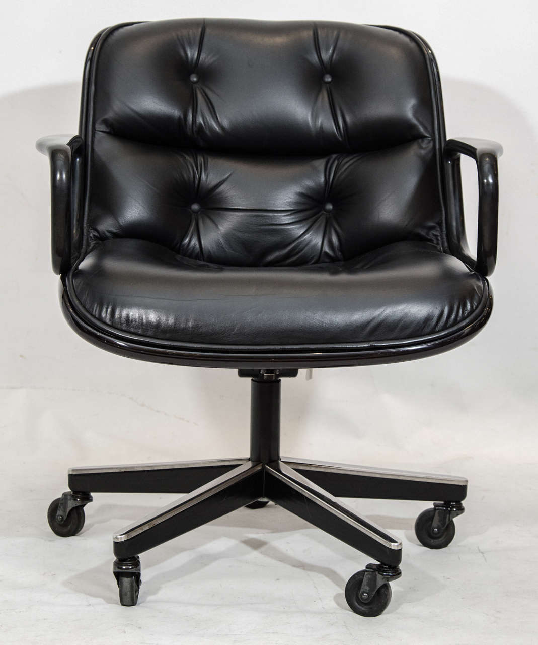 pollock executive chair replica klismos fabric side charles desk for knoll at 1stdibs