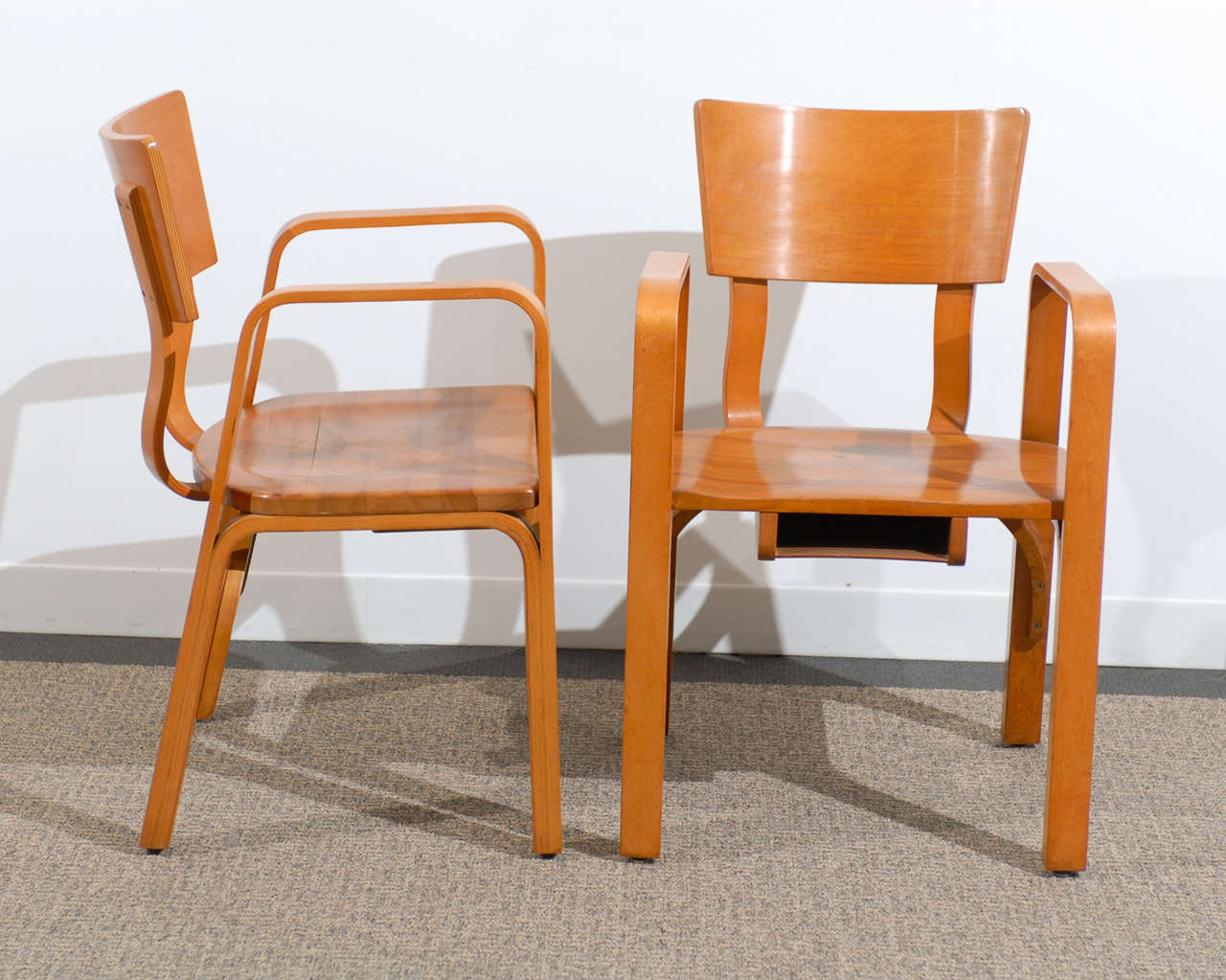 unusual chair company chichester silver banquet covers an pair of bent plywood arm chairs by thonet at