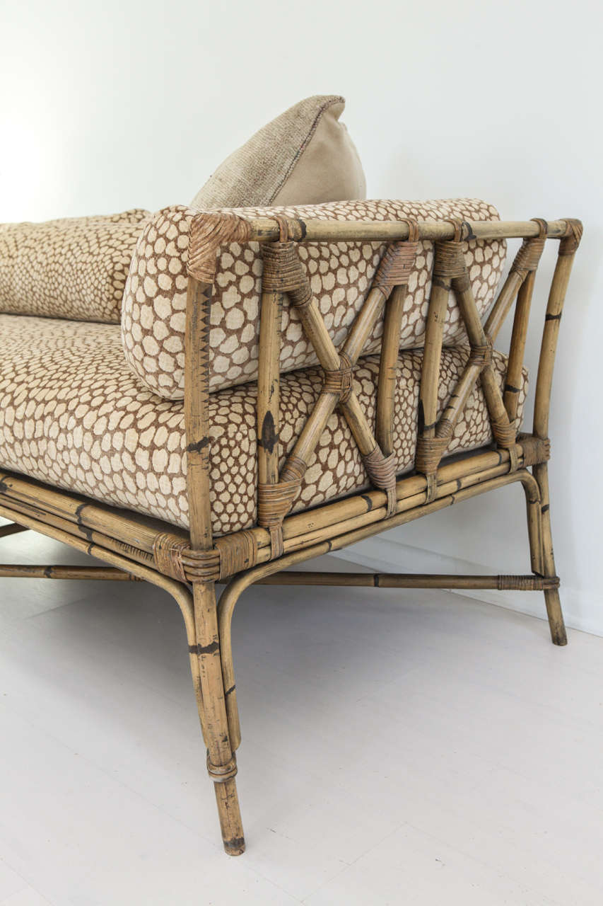 low back sofa height divan vintage bamboo daybed at 1stdibs